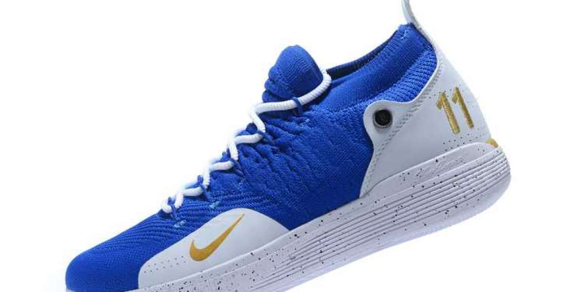 2020 New Nike KD 11 Yellow/Blue-White For Sale