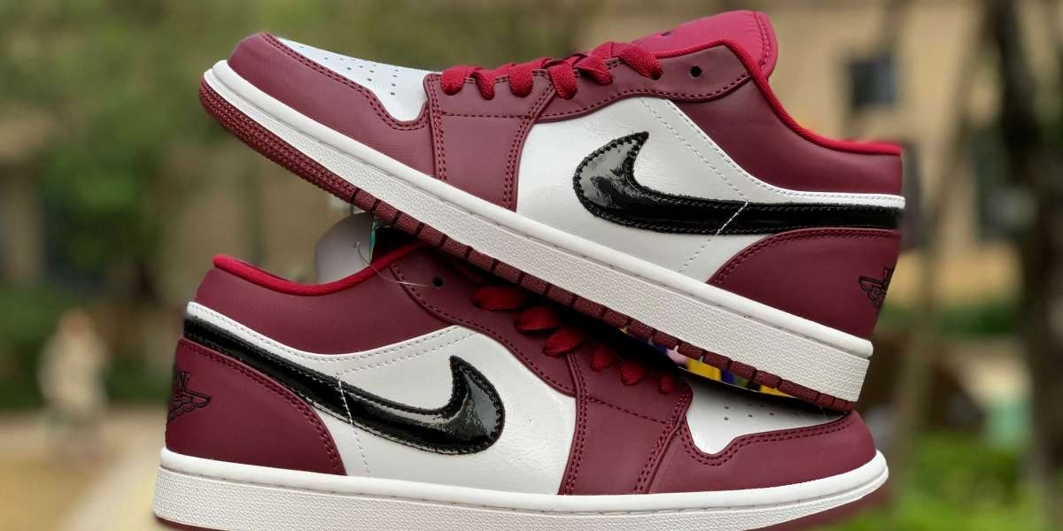 """New Air Jordan 1 Low """"Noble Red"""" 553558-604 For Sale 2020"""