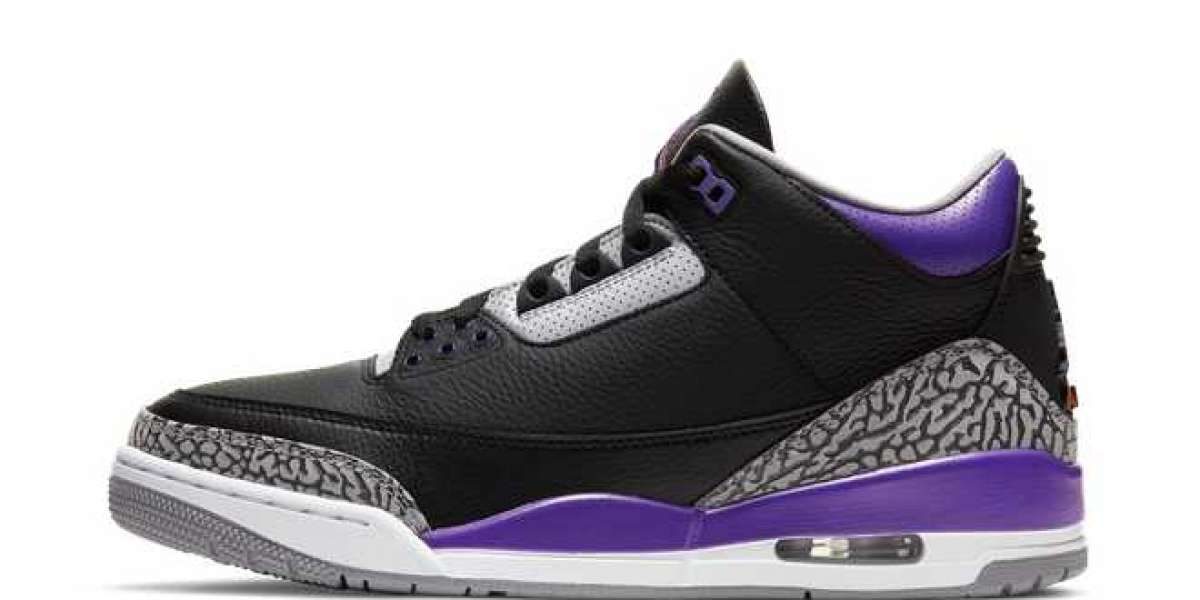 CT8532-050 Court Purple Air Jordan 3s Basketball Shoes