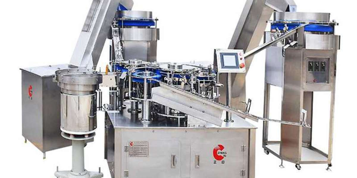 There Is An Introduction of Linear Track of the Syringe Production Line