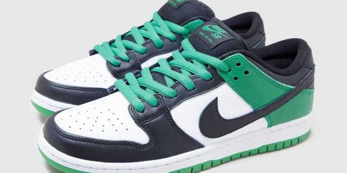 """BQ6817-302 Nike SB Dunk Low """"Classic Green"""" will be released in spring"""