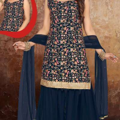 GARARA STYLE DESIGNER SUIT IN NAVY BLUE Profile Picture