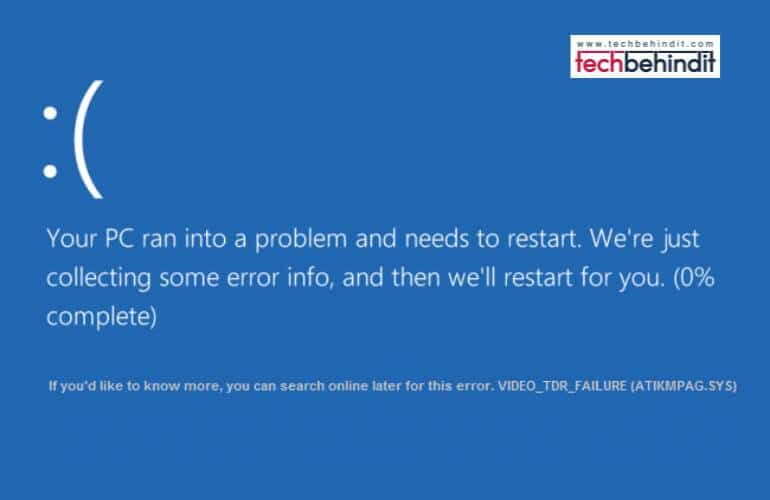 [Solved] How Can You Fix Atikmdag.sys BSoD in Windows 10/8/7?