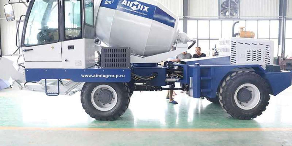 A Nice Self Loading Concrete Mixer On The Market